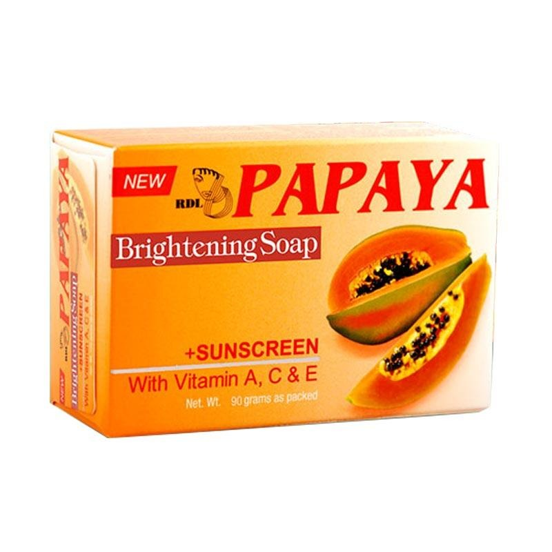 RDL Papaya Brightening Soap Sabun Wajah