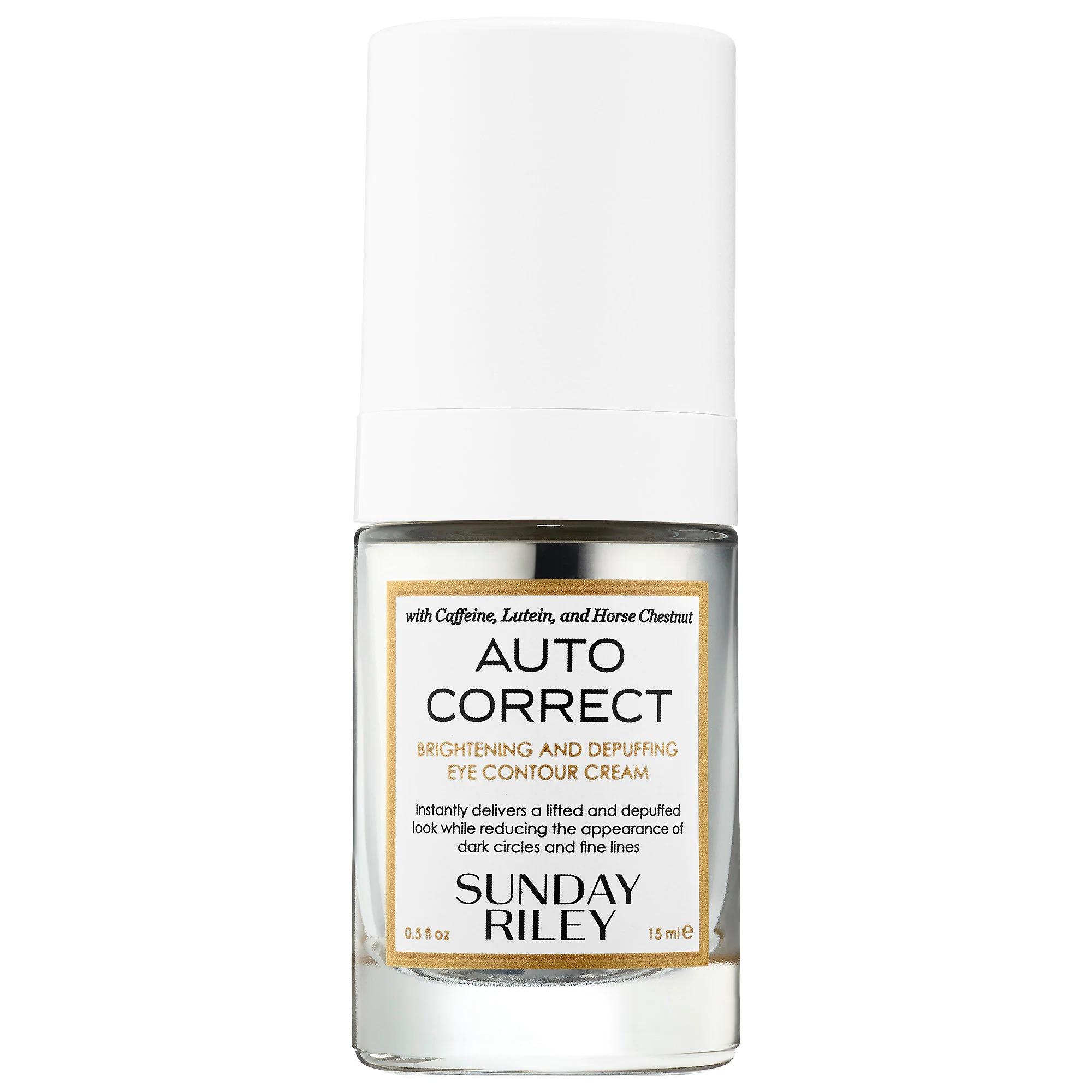 SUNDAY RILEY Auto Correct Brightening and Depuffing Eye Contour Cream
