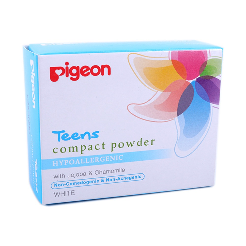 Pigeon Compact Powder Hypoallergenic White