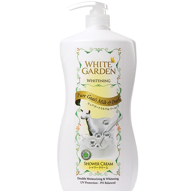 White Garden Shower Cream Pure Goat's Milk & Pearl