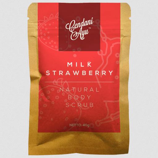 Cendani Ayu Milk-Strawberry Natural Body Scrub