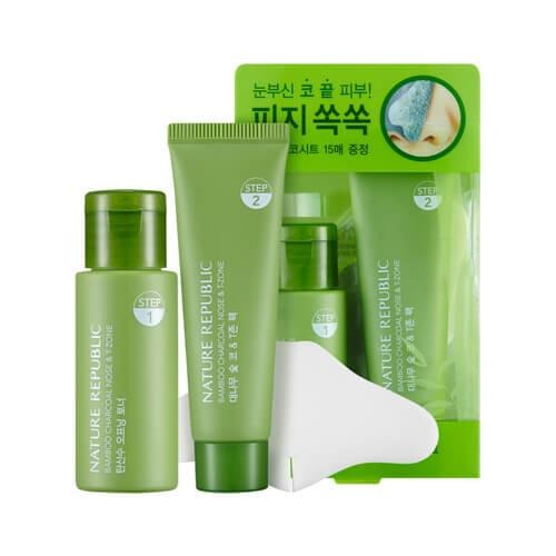 Nature Republic Bamboo & Charcoal Nose & T-Zone Pack