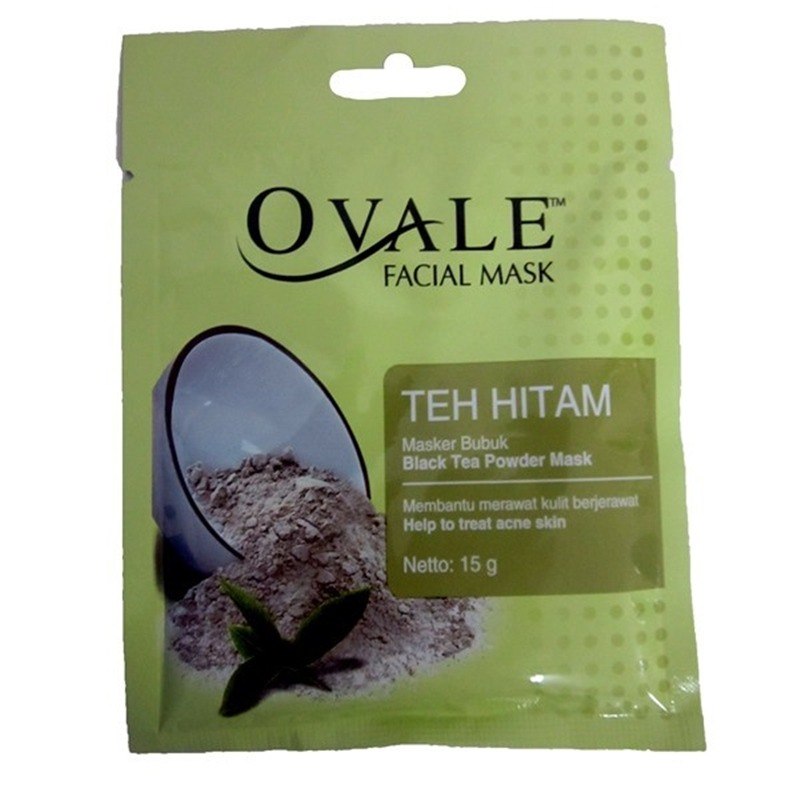 Ovale Facial Mask Powder Teh Hitam