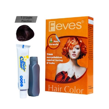 Feves Hair Color 7.2 Light Fuschia