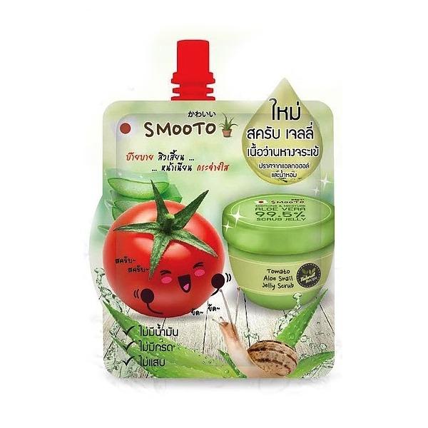 SMOOTO Tomato Aloe Snail Jelly Scrub
