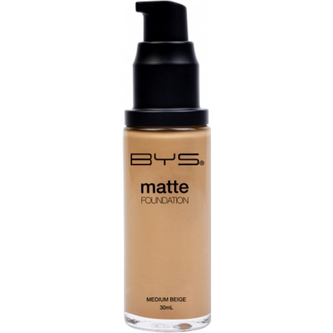 BYS Foundations Liquid Pump Matte Medium Beige