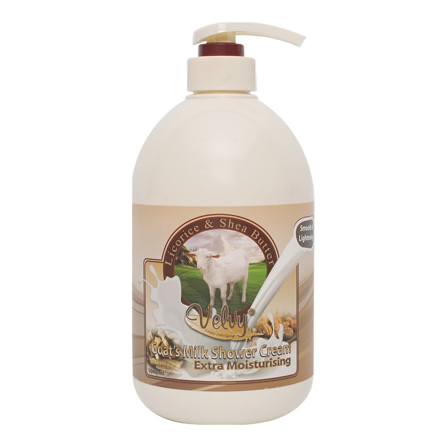 Velvy GOAT'S MILK SHOWER CREAM EXTRA MOIST LICORICE PUMP