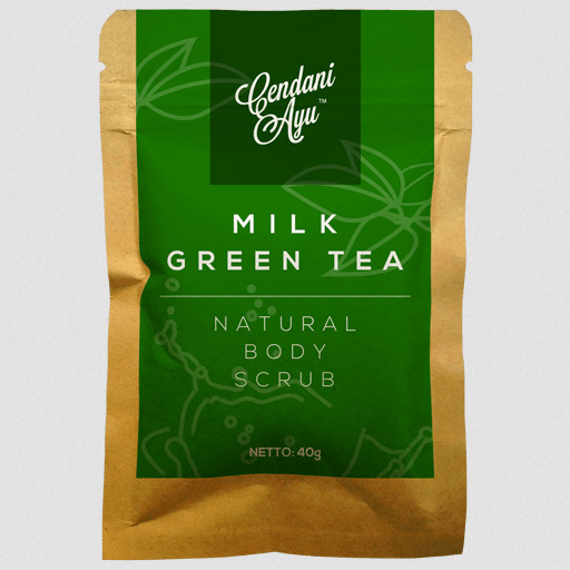 Cendani Ayu Milk-Green Tea Natural Body Scrub