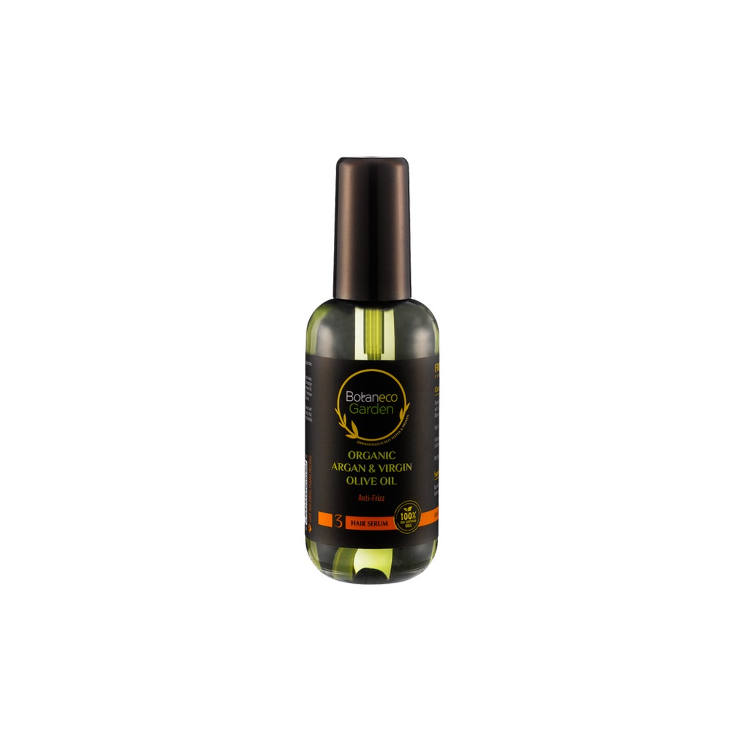 Botaneco Garden Organic Argan and Virgin Olive Oil Hair Serum – Anti-Frizz