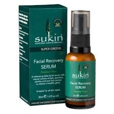 Sukin Super Greens - Facial Recovery Serum