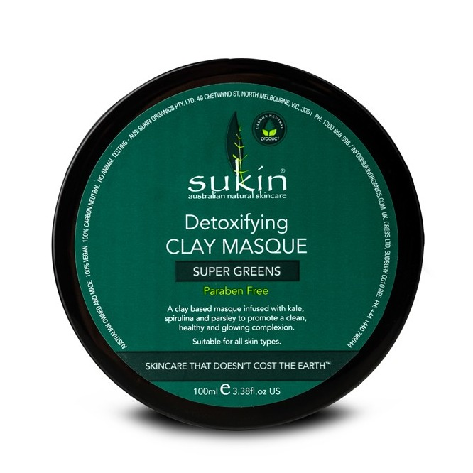 Sukin Super Greens Detoxifying Clay Mask