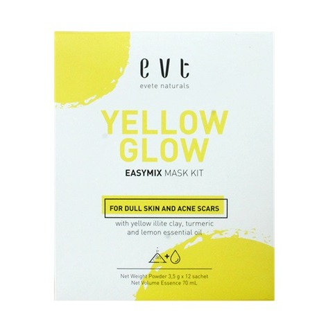 Evete Naturals Yellow Glow Easy-Mix Face Mask Kit