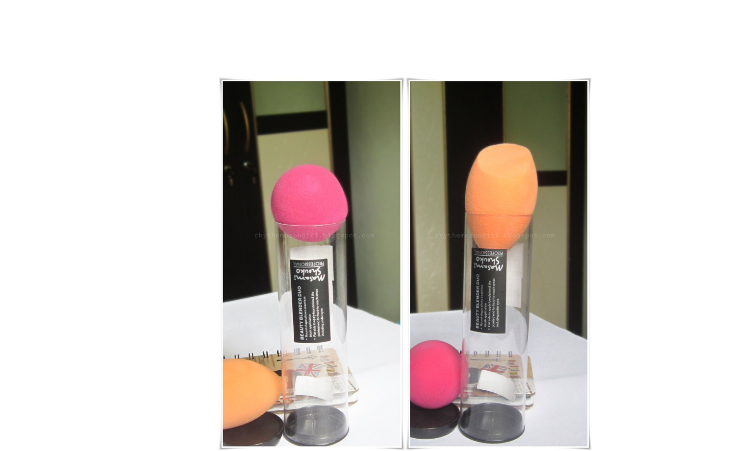 Masami Shouko Professional Complexion Beauty Blender Duo Orange Pink