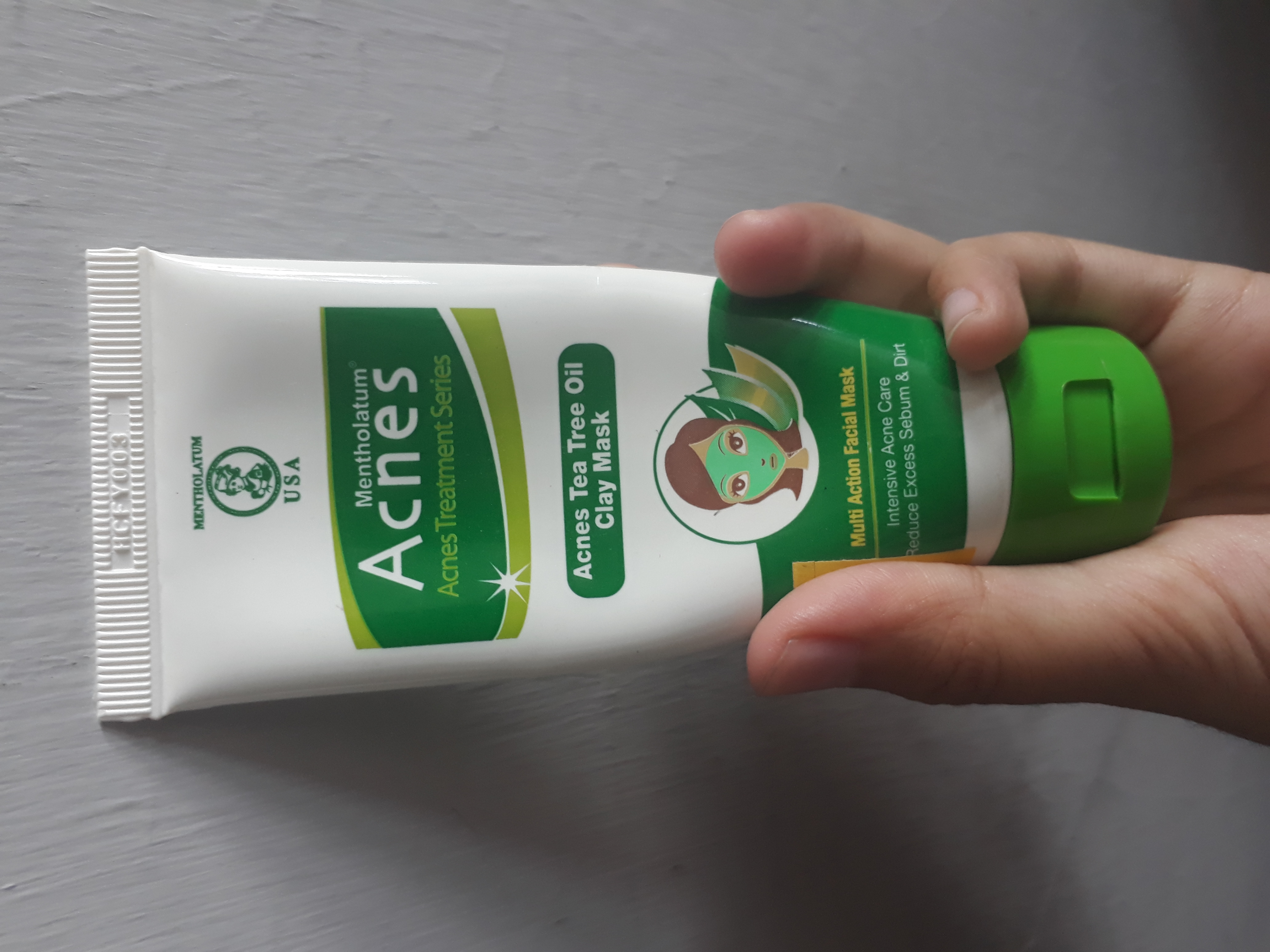 Review Acnes Tea Tree Oil Clay Mask Beauty Journal By Sociolla 50g Bagian Depan