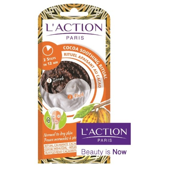 L'Action Paris Cocoa Soothing Ritual Scrub And Face Mask