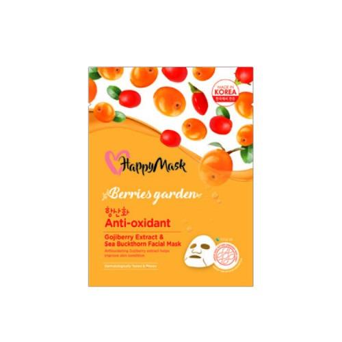 Happy Mask Berries Garden Gojiberry Extract & Sea Buckthorn Facial Mask