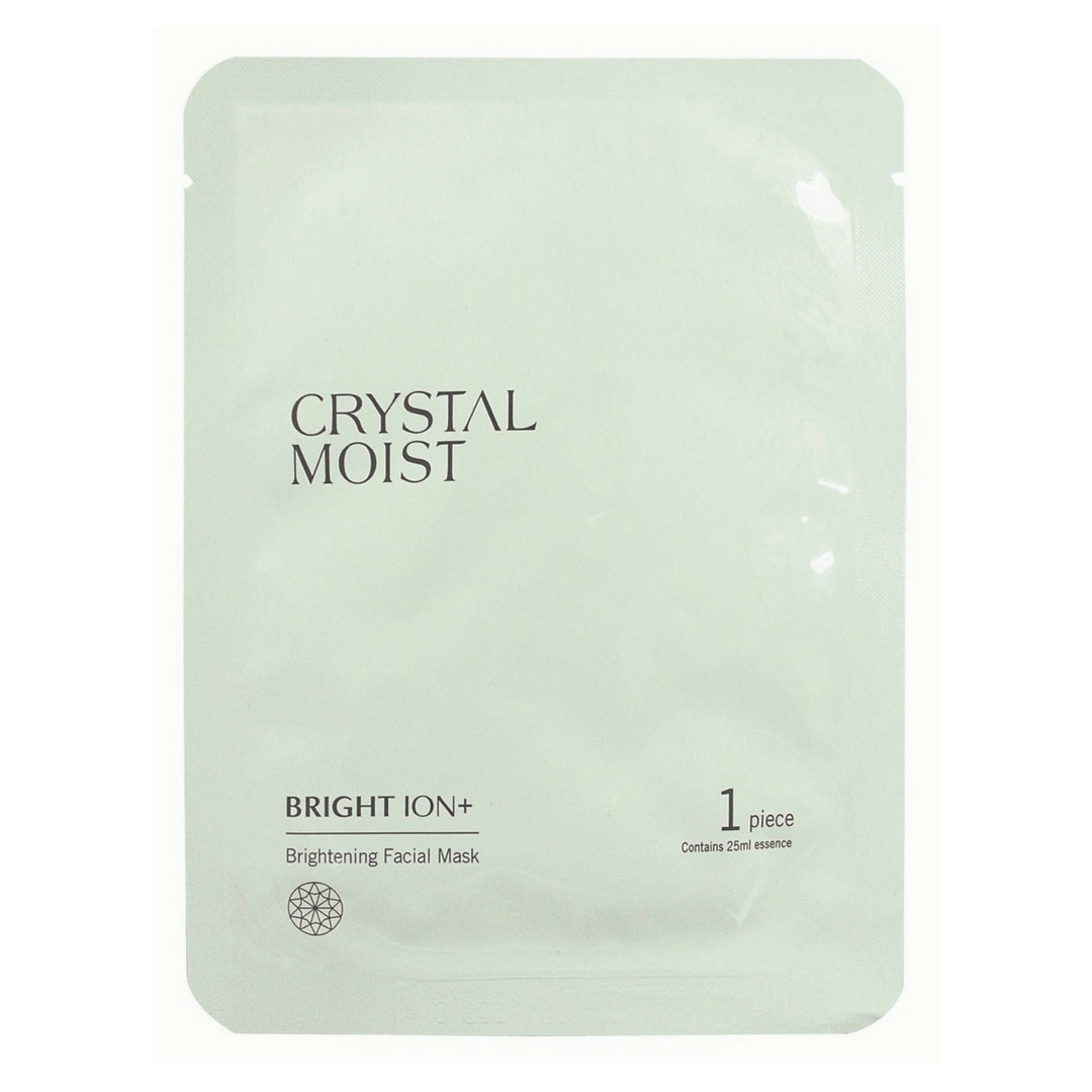 Review Crystal Moist Bright Ion Brightening Facial Mask Beauty Quina Maskara Hitam Mkp00006