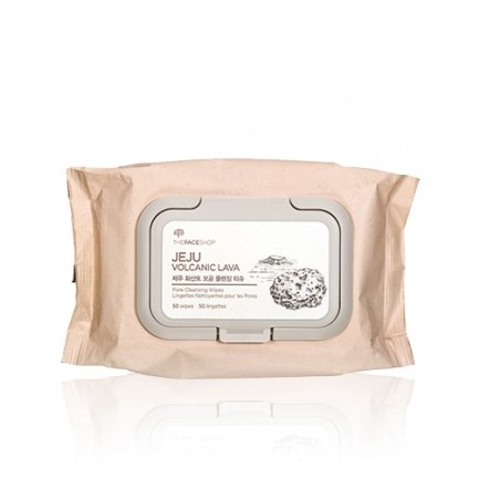 The Face Shop JEJU VOLCANIC LAVA Pore Cleansing Wipes