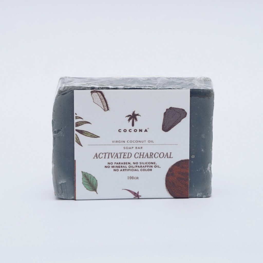 Cocona Care Natural Soap Bar Activated Charcoal
