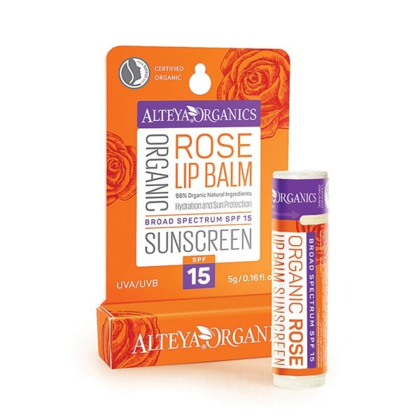 ALTEYA ORGANICS Organic Rose Lip Balm Sunscreen