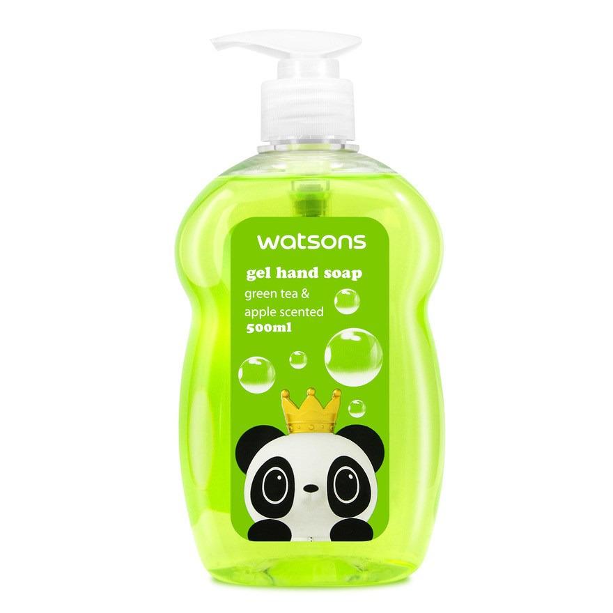 Watson Gel Hand Happy Green Tea & Apple Scented
