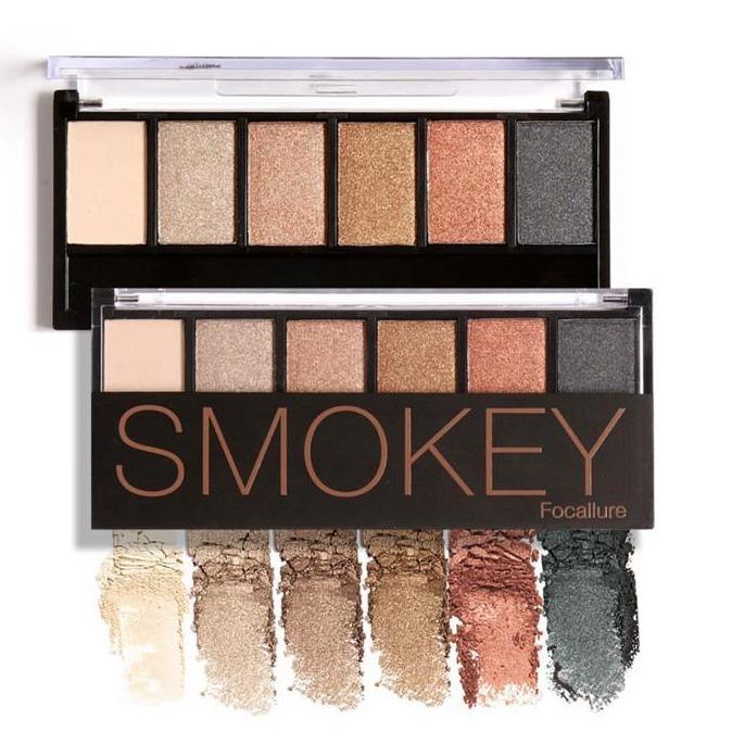 FOCALLURE Glamorous Smokey 6 Colors Eyeshadow Palette