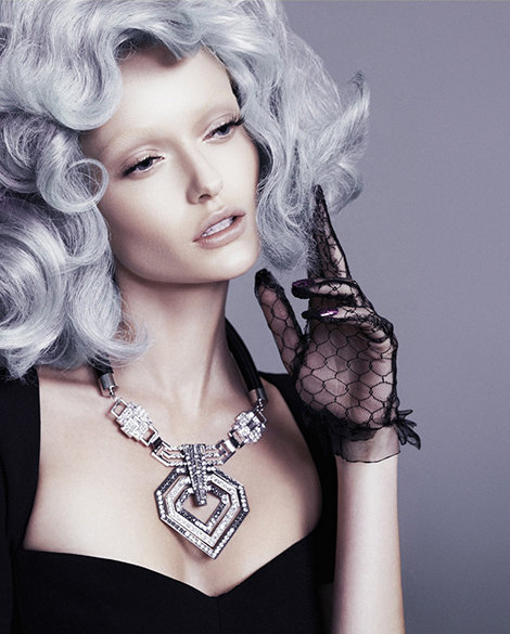 tren warna rambut silver