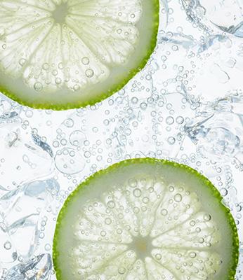 menggunakan carbonated water