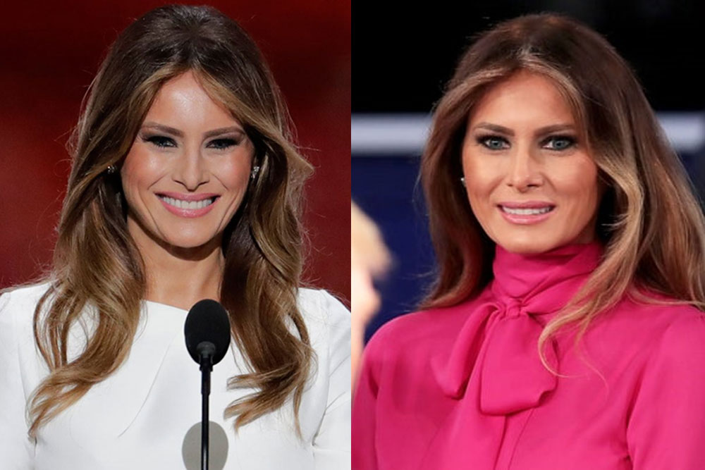 smokey eyes ala melania trump