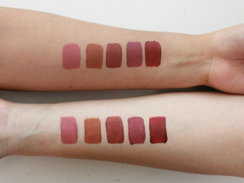 Review They Talk About Matte Lipquid Hand Swatch