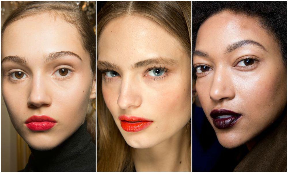 Makeup Lipstik Bold Fall Winter 2017 - Jason Wu, Topshop Unique, Marc Jacobs