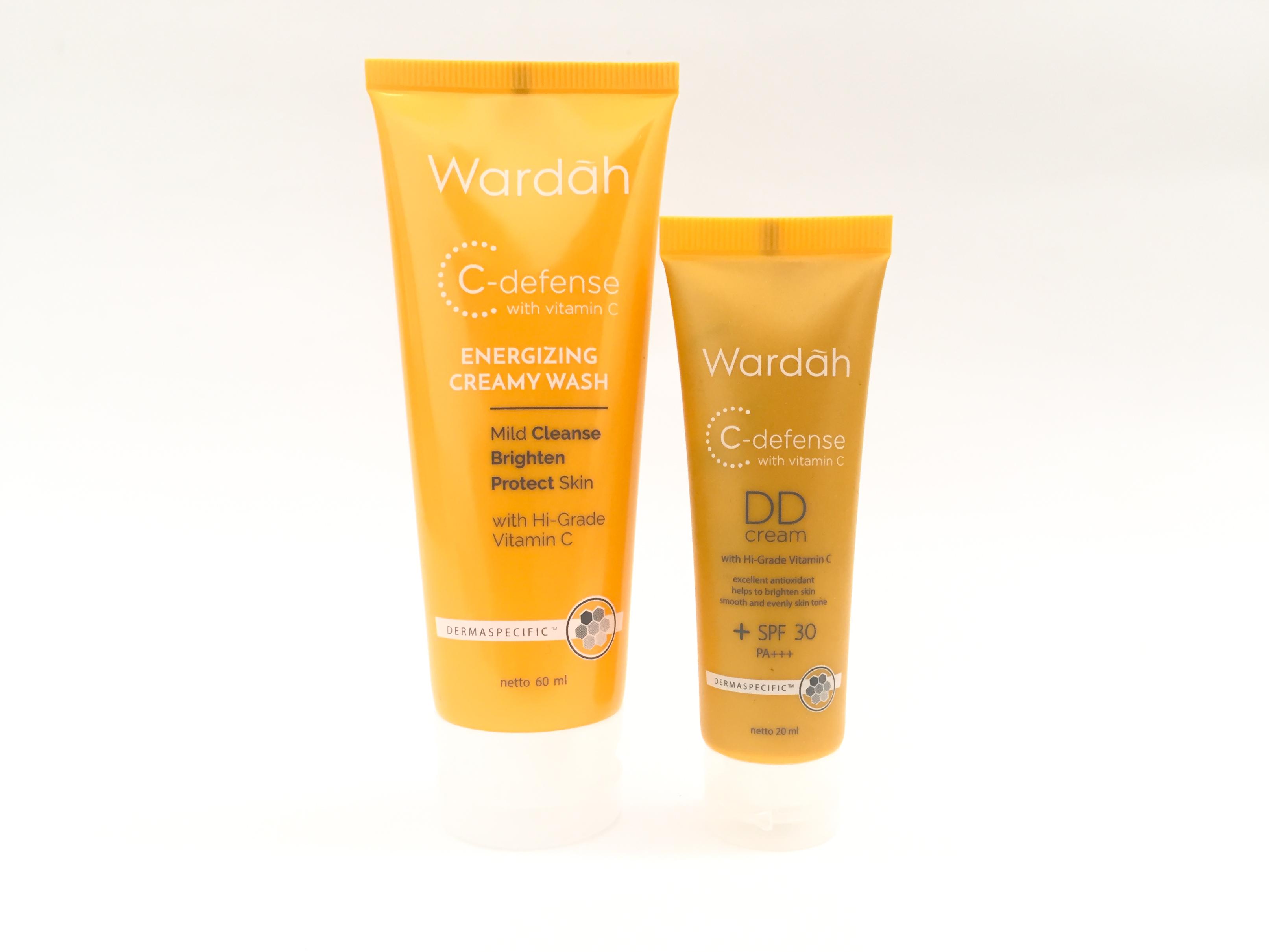 Review: Wardah C-Defense DD Cream & Energizing Creamy Wash