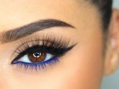 riasan mata berwarna biru