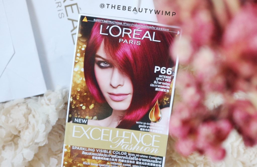 L'Oreal Paris Excellence Fashionable in Spicy Red