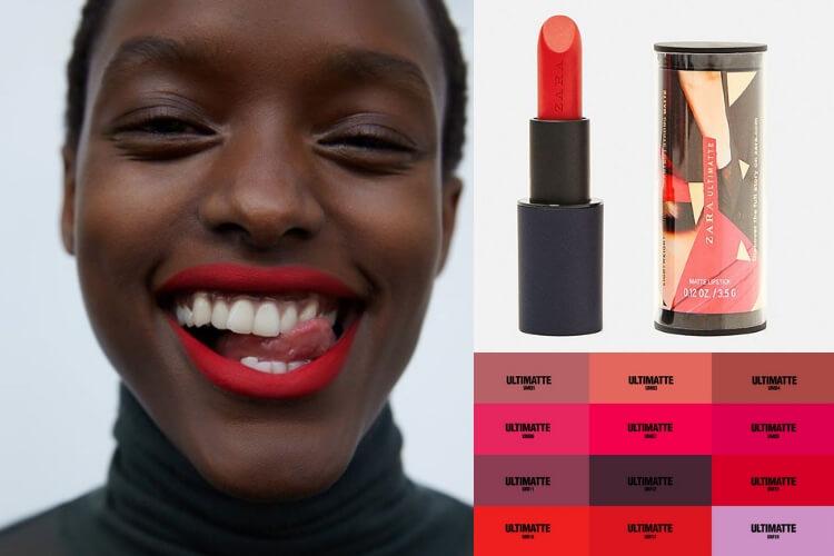 Zara mengeluarkan lipstik