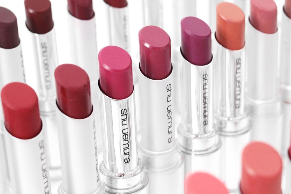 review shu uemura unlimited rouge lipstick