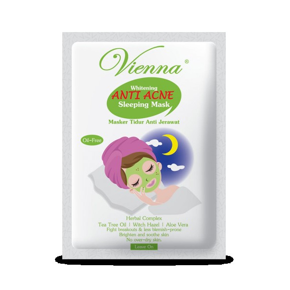 Vienna Relaxing Sleeping Face Mask Anti Acne