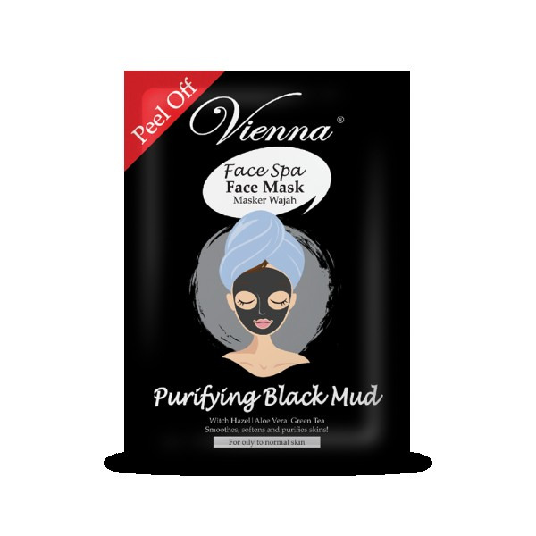 Vienna Face Spa Peel off Mask Purifying Black Mud