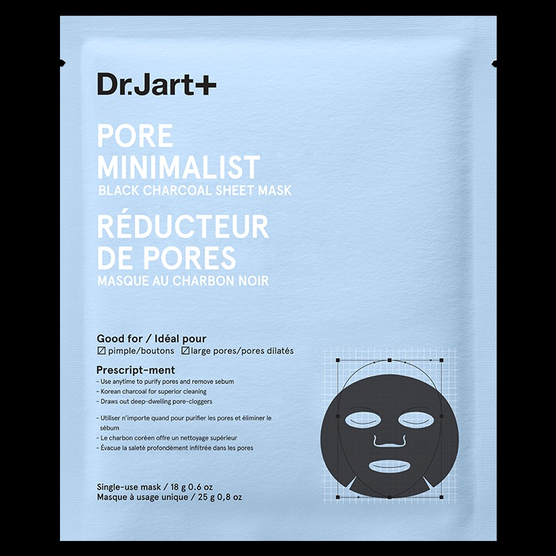 Dr Jart Pore Minimalist Black Charcoal Sheet Mask