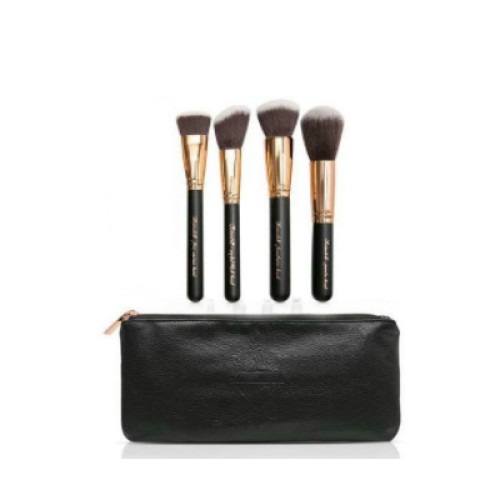 Reinedoll 4PC FACE BRUSH SET + POUCH