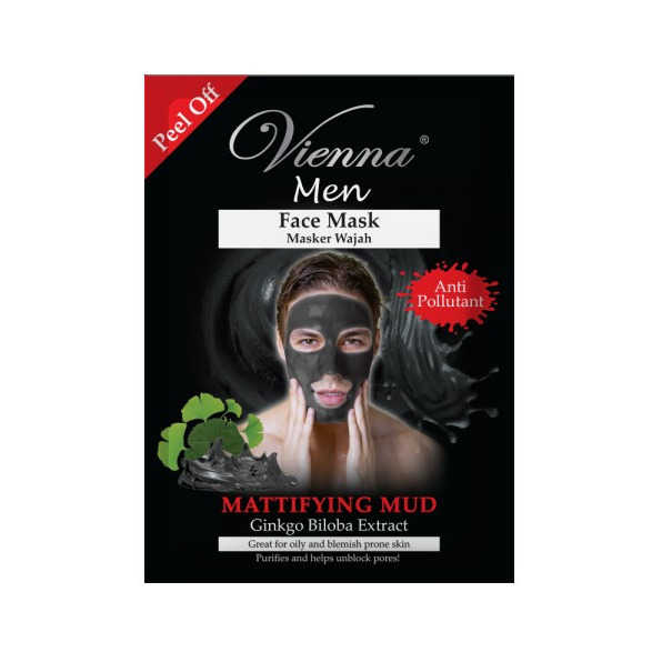 Vienna Face Spa Peel off Mask Purifying Black Mud For Man