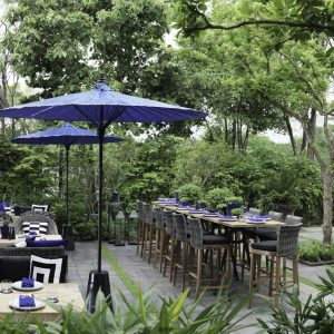 Delicious food in the backyard garden, Rama 9