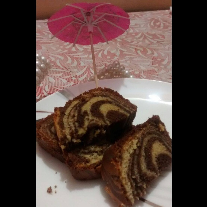 Whole wheat Choco Marble Cake - Eggless