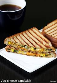 Yummy Vegetable Cheese Sandwich
