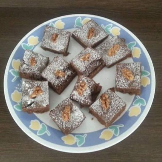 Yummy eggless chocolate walnut brownies