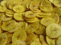 Yellow banana chips
