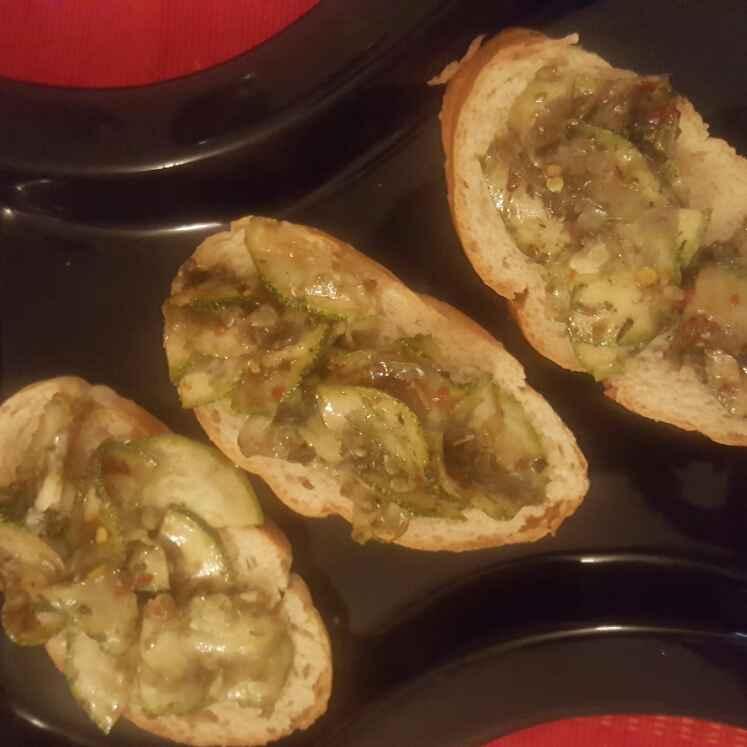 Zucchini Bruschetta