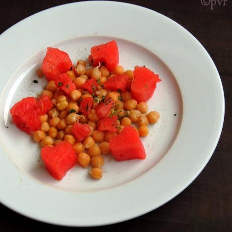 Watermelon & Chickpeas Salad