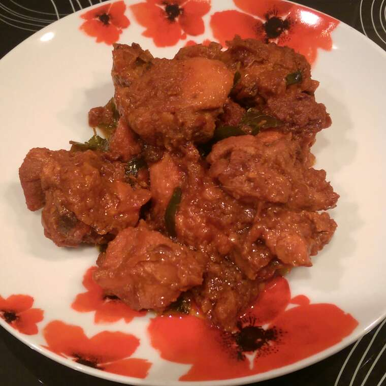 Kadhai chicken (southern style)