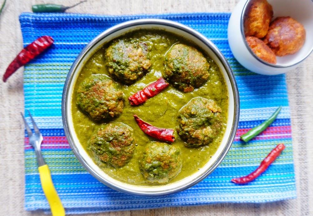 Palak Paneer Kofte in Spinach Gravy